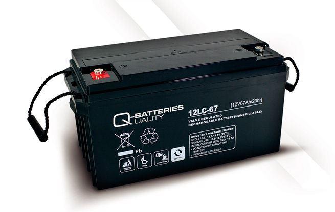 Imagen de Batería Q-BATTERIES 12LC-67 AGM Ciclica