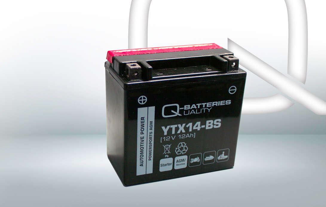 Imagen de BATERÍA Q-BATTERIES YTX14-BS Motorrad AGM