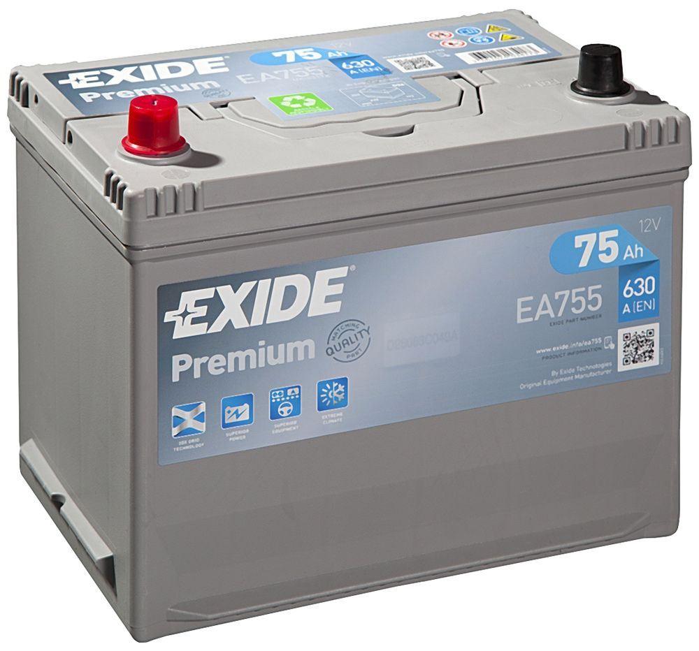 Imagen de Batería EXIDE EA755 (equivale a TUDOR TA755) Premium Carbon Boost