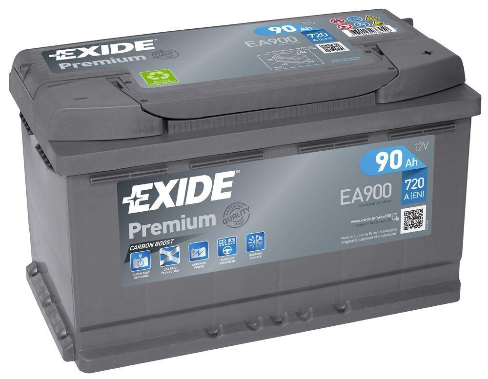 Imagen de Batería EXIDE EA900 (equivale a TUDOR TA900) Premium Carbon Boost