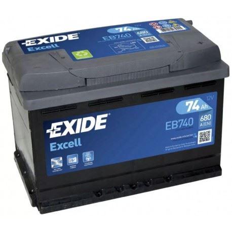 Imagen de Batería EXIDE EB740 (equivale a TUDOR TB740) Excell