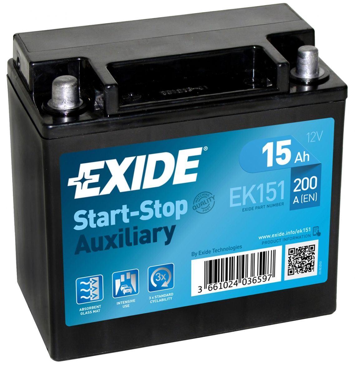 Imagen de Batería EXIDE EK151 Auxiliar (equivale a TUDOR TK151)