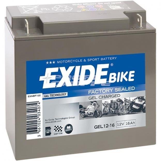 Imagen de Batería EXIDE 12-16 GEL Bike