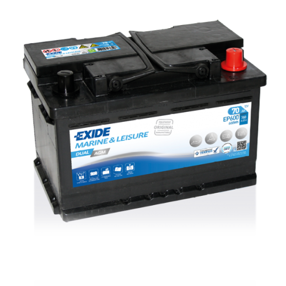 Imagen de Batería EXIDE EP600 Marine & Leisure Dual AGM