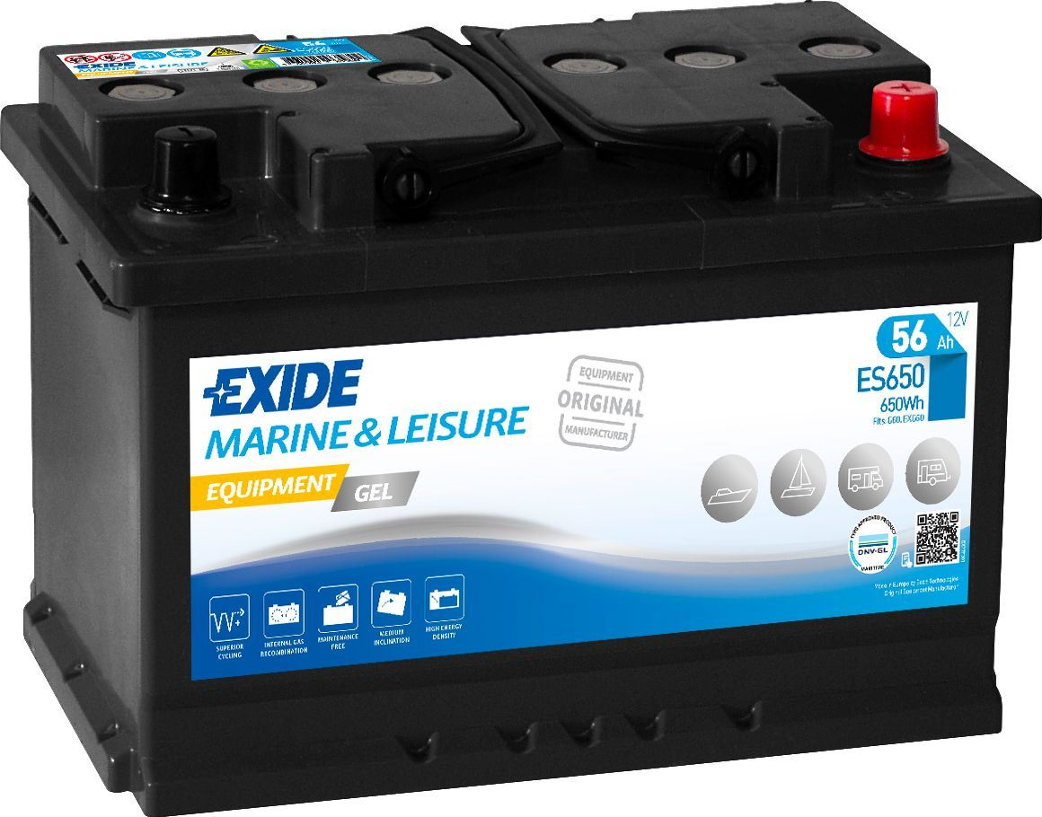 Imagen de Batería EXIDE ES650 Marine & Leisure Equipment Gel
