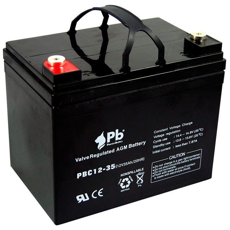 Imagen de PB Premium Battery AGM Ciclica PBC12-35