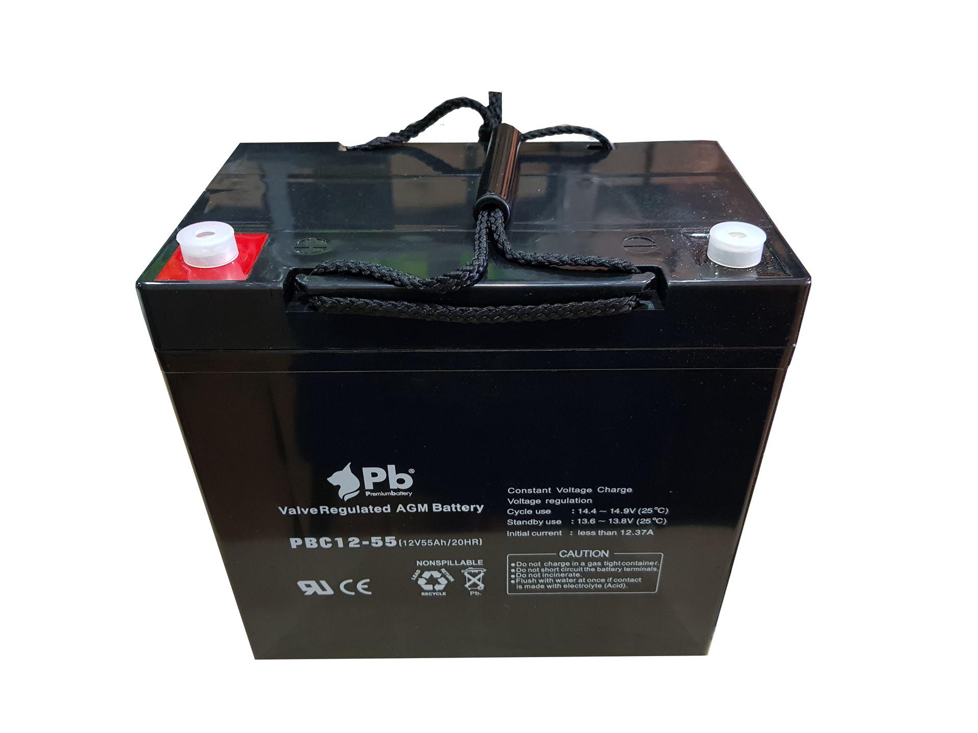 Imagen de PB Premium Battery AGM Ciclica PBC12-55