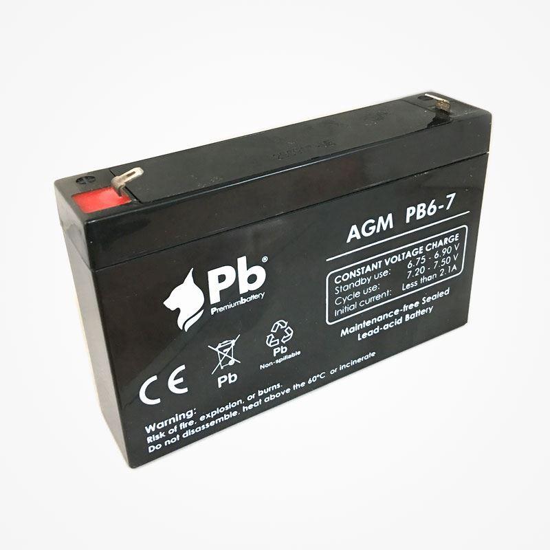Imagen de PB Premium Battery AGM PB6-7