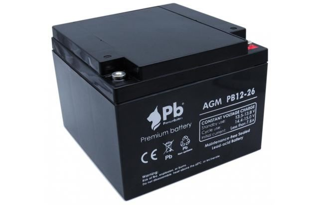 Imagen de PB Premium Battery AGM PB12-26