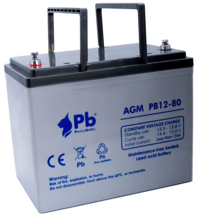 Imagen de PB Premium Battery AGM PB12-80