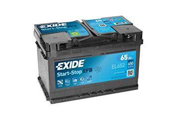 Imagen de Batería EXIDE EL652 (equivale a TUDOR TL652) Start-Stop EFB