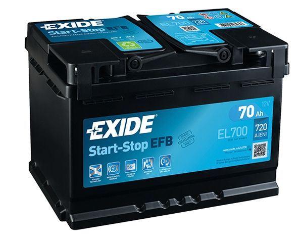 Imagen de Batería EXIDE EL700 (equivale a TUDOR TL700) Start-Stop EFB