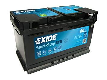 Imagen de Batería EXIDE EL800 (equivale a TUDOR TL800) Start-Stop EFB