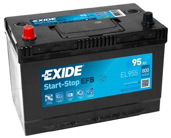 Imagen de Batería EXIDE EL955 (equivale a TUDOR TL955) Start-Stop EFB