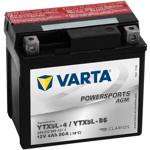 Imagen de VARTA Powersports AGM YTX5L-BS