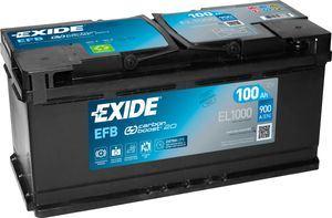 Imagen de Batería EXIDE EL1000 (equivale a TUDOR TL1000) Start-Stop EFB