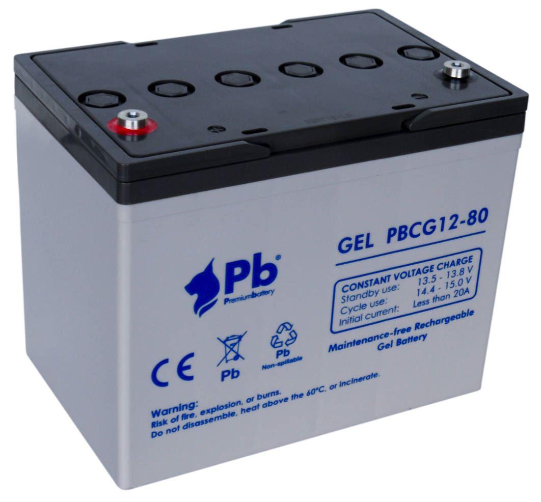 Imagen de Batería Premium Battery PBCG12-80 GEL Cíclica