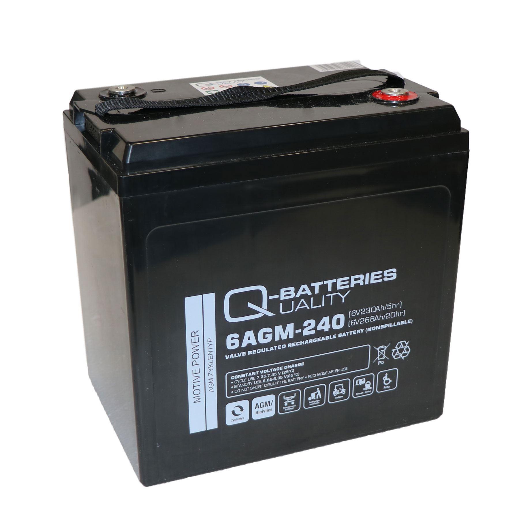 Imagen de Q-BATTERIES 6AGM-240 Traction Cíclica