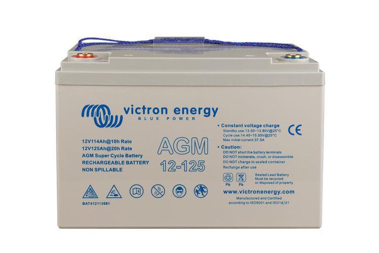 Imagen de Batería VICTRON 12V/125Ah AGM Super ciclica
