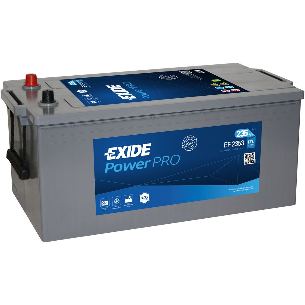 Imagen de Batería EXIDE EF2353 (equivale a TUDOR TF2353) Power PRO