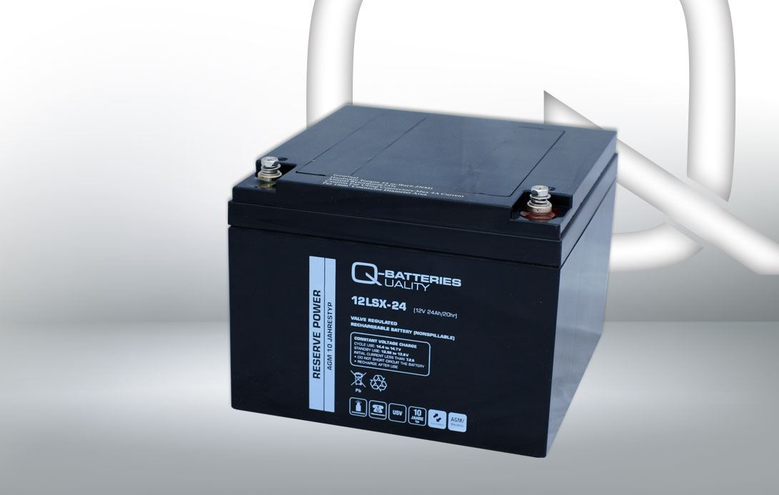 Imagen de Batería Q-BATTERIES 12LSX-24 AGM Long LIfe
