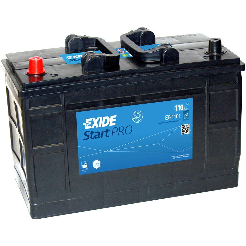Imagen de Batería EXIDE EG1101 (equivale a TUDOR TG1101) Start PRO