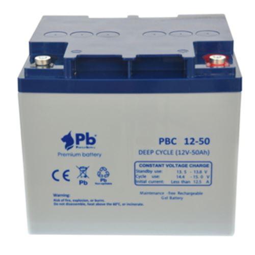 Imagen de Batería Premium Battery PBC12-50 AGM Ciclica