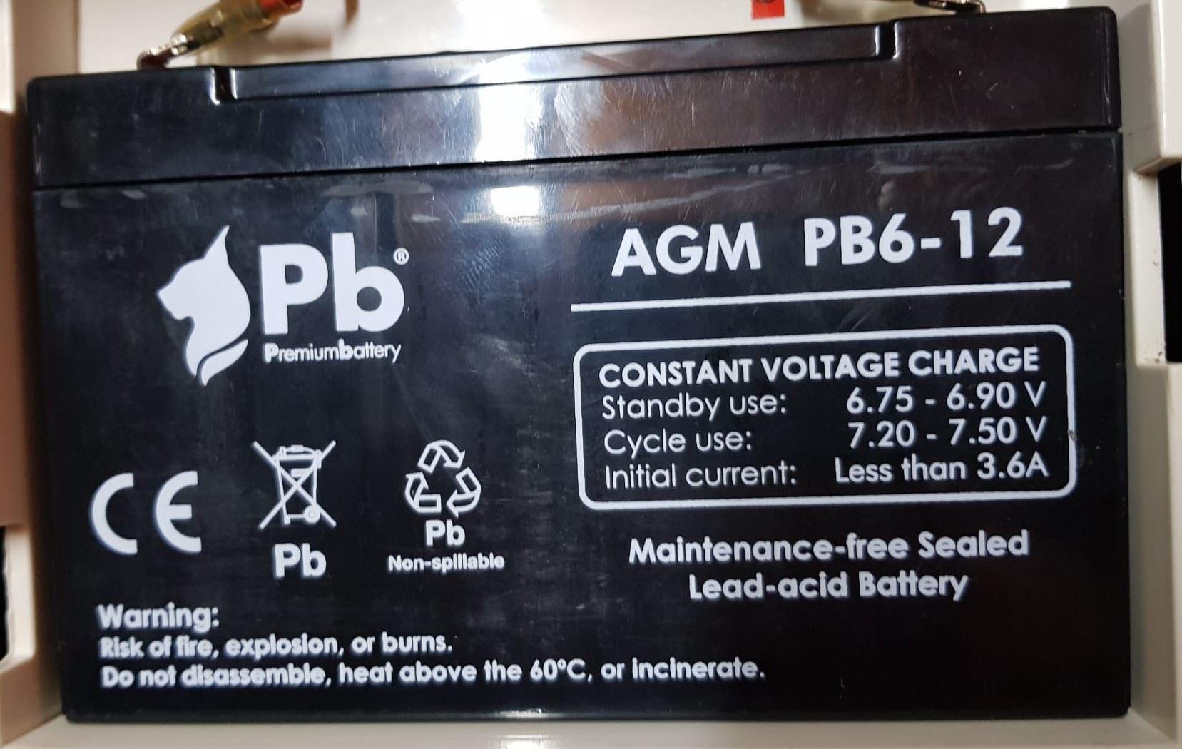 Imagen de Batería Premium Battery PB6-12 AGM Estacionaria