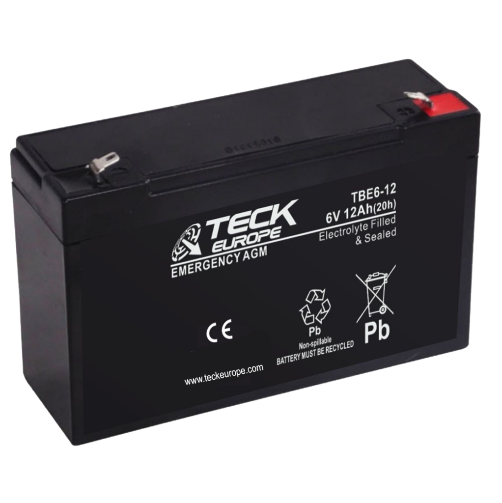 Imagen de Batería TECK TBE6-12 AGM Emergencia