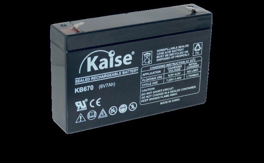 Imagen de Batería KAISE KB670 AGM STANDARD