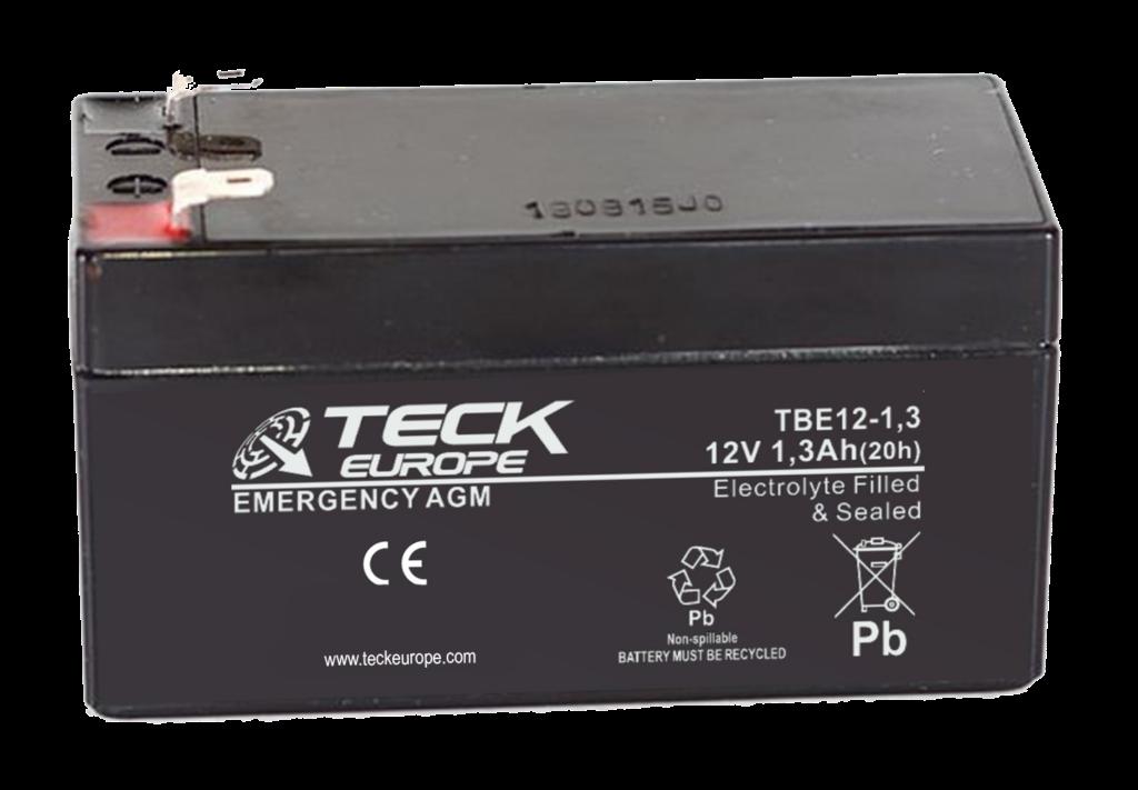 Imagen de Batería TECK TBE12-1,3 AGM Emergencia